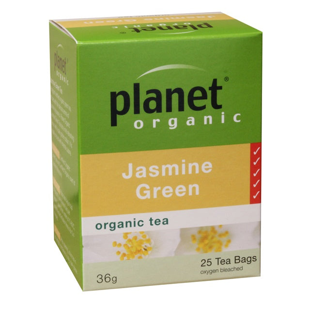 PLANET ORGANIC Jasmine Green Herbal Tea x 25 Tea Bags - Welcome Organics