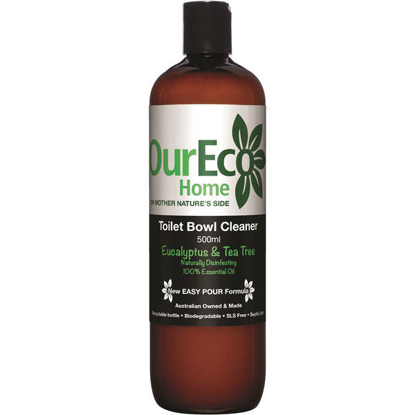 OURECO Home Toilet Bowl Cleaner Eucalyptus and Tea Tree 500ml - Welcome Organics