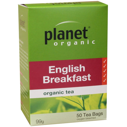 Planet Organic English Breakfast Tea x 50 Tea Bags - Welcome Organics