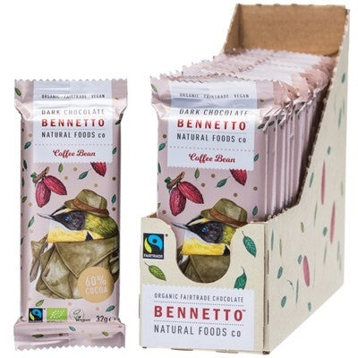 BENNETTO Organic Coffee Bean Dark Chocolate 21x32g-BENNETTO-Welcome-organics