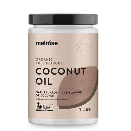 MELROSE Organic Coconut Oil Full Flavour 1L-MELROSE-Welcome-organics