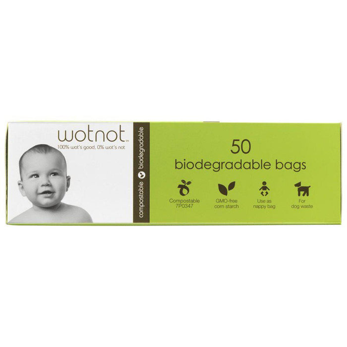 WOTNOT Biodegradable Bags x 50 Pack - Welcome Organics