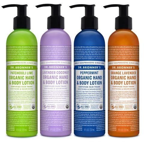 DR BRONNERS Organic Hand and Body Lotion 237ml-DR BRONNERS-Welcome-organics