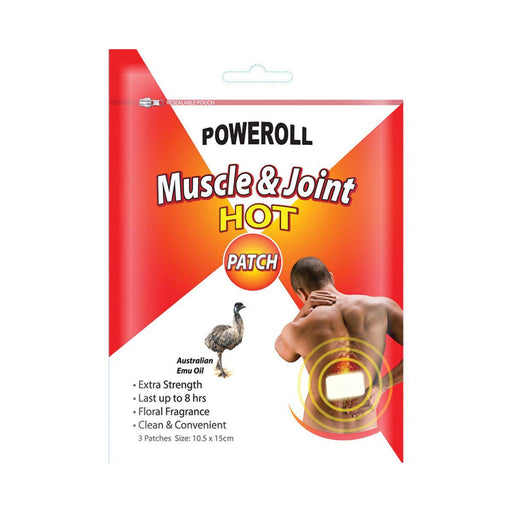 GLIMLIFE Poweroll Muscle and Joint Patch Hot x 3pk - Welcome Organics