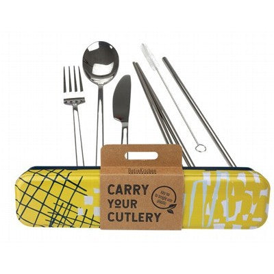 RETROKITCHEN Carry Your Cutlery - Abstract Stainless Steel Cutlery Set