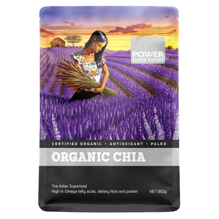 POWER SUPER FOODS Chia Seeds 1kg - Welcome Organics