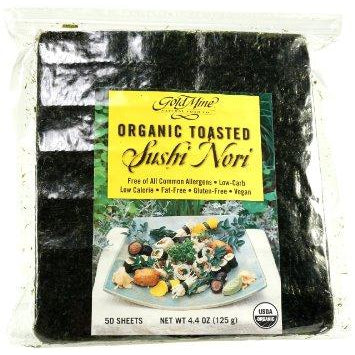 GOLD MINE Organic Toasted (50 Sheets) Sushi Nori 125g - Welcome Organics