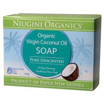 NIUGINI ORGANICS Pure (Unscented) Coconut Oil Soap 100g - Welcome Organics