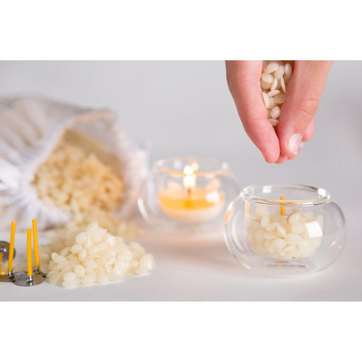 DIY Beeswax Tea Light Candle Making Kit-northern light-Welcome-organics