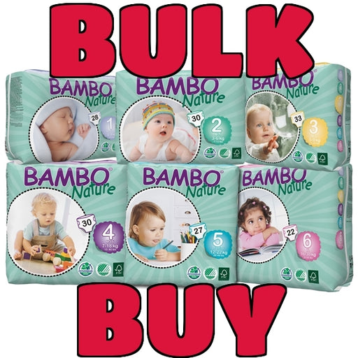BAMBO NATURE Eco Nappies Carton- BULK BUY - Welcome Organics