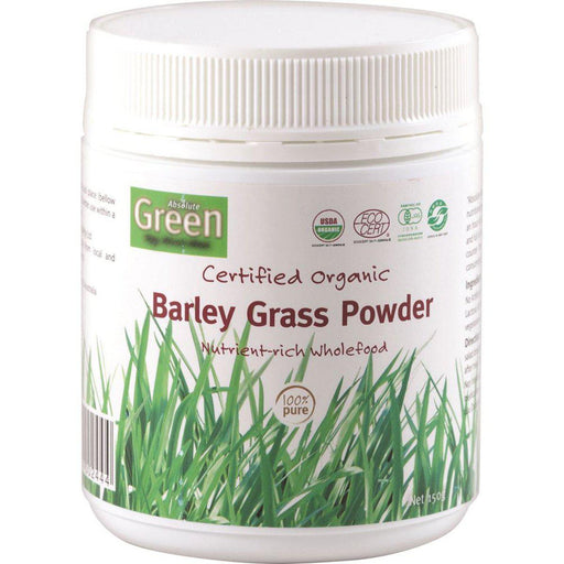 ABSOLUTE GREEN Certified Organic Barley Grass Powder 150gm-ABSOLUTE GREEN-Welcome-organics