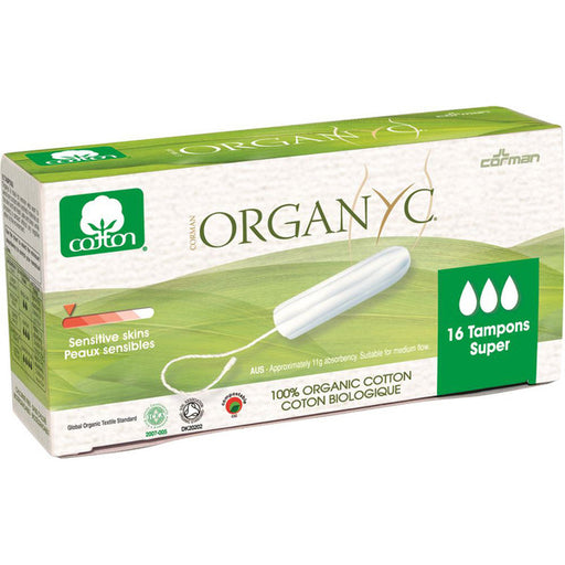 ORGANYC Tampons Super x 16 Pack - Welcome Organics