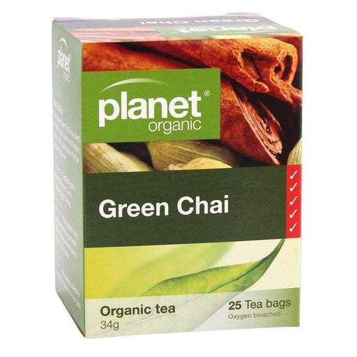 PLANET ORGANIC Green Chai Herbal Tea x 25 Tea Bags - Welcome Organics