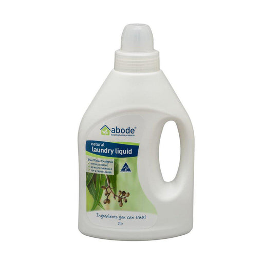 ABODE Laundry Liquid (Front & Top Loader) Blue Mallee Eucalyptus 2L - Welcome Organics