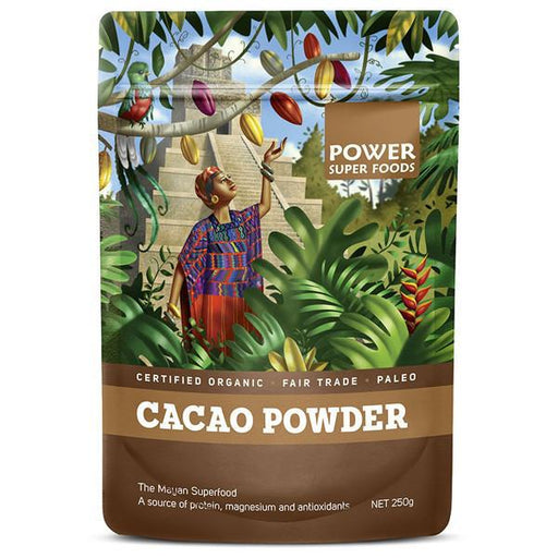 POWER SUPER FOODS Organic Cacao Powder 250gm-POWER SUPER FOODS-Welcome-organics