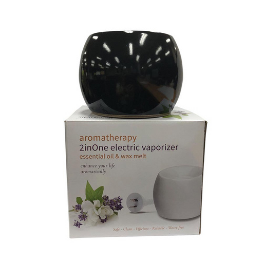 AROMAMATIC Vapouriser Electric Coral Shape Black (2inOne - Essential Oils and Wax Melts)