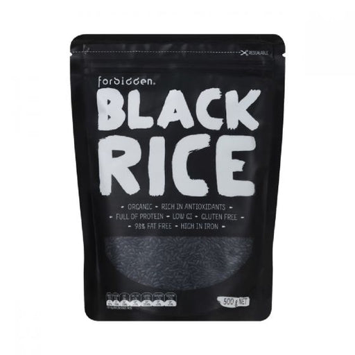 FORBIDDEN Black Rice 98% Fat Free - Low G.I. 500gm-FORBIDDEN-Welcome-organics