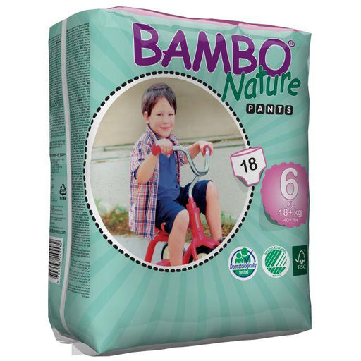 BAMBO NATURE Eco Training Pants XL 18kg+ Pack 18 Size 6+-BAMBO NATURE-Welcome-organics