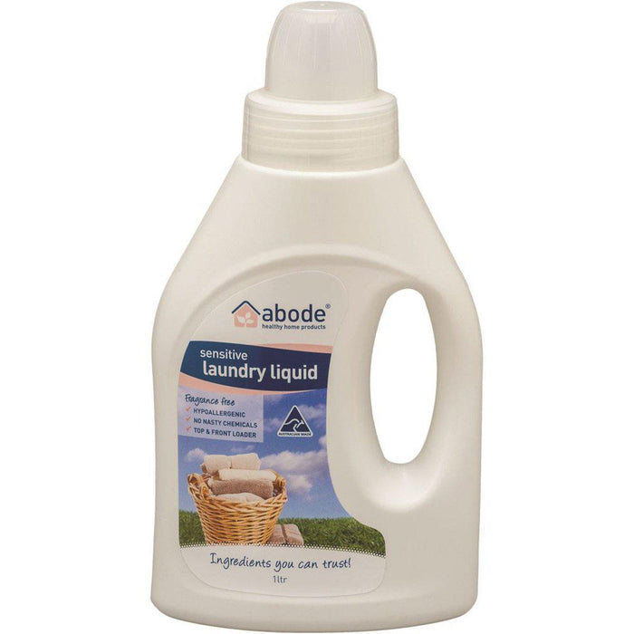 ABODE Laundry Liquid (Front & Top Loader) Zero 1L - Welcome Organics
