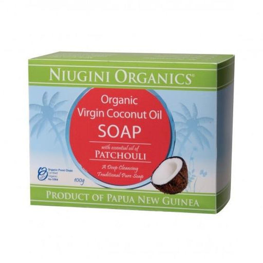 NIUGINI ORGANICS Coconut Oil - Patchouli Soap 100gm-NIUGINI ORGANICS-Welcome-organics