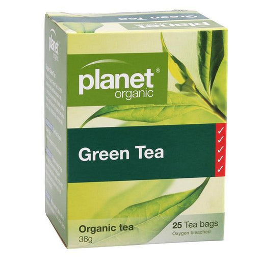 Planet Organic Green Tea x 25 Tea Bags - Welcome Organics