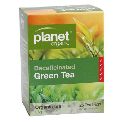 Planet Organic Decaffeinated Green Tea x 25 Tea Bags - Welcome Organics