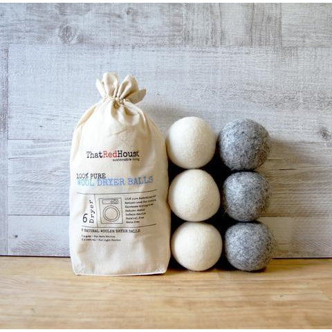 THAT RED HOUSE 100% Pure Wool Dryer Balls 6 - Welcome Organics