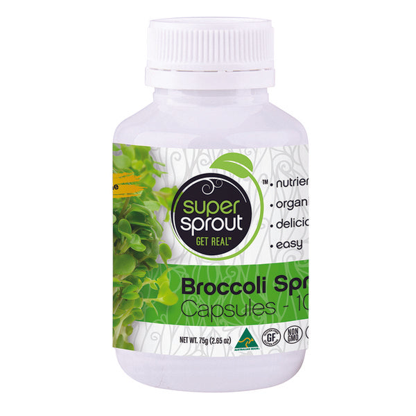 SUPER SPROUT Broccoli Sprout Capsules 100c - Welcome Organics