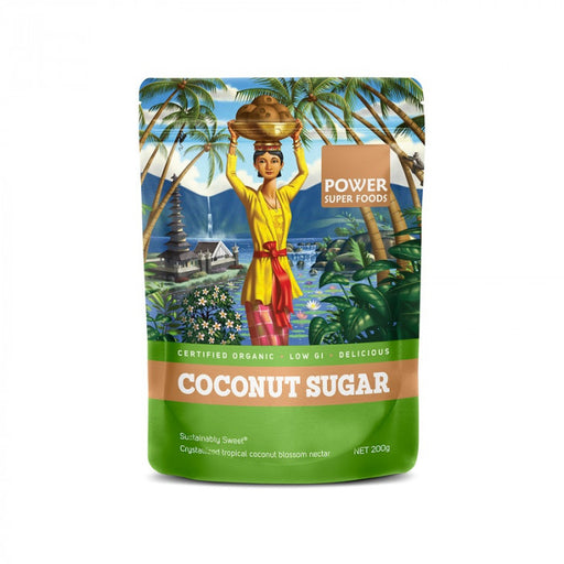 POWER SUPER FOODS Organic Coconut Sugar 200gm-POWER SUPER FOODS-Welcome-organics