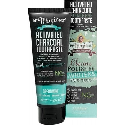 MY MAGIC MUD Spearmint Whitening Toothpaste 113g - Welcome Organics