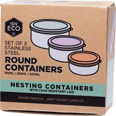 EVER ECO Reusable Stainless Steel Nesting Containers 3 - Welcome Organics