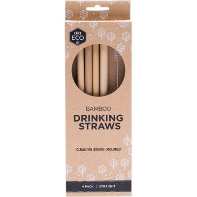 EVER ECO Bamboo Straws 4 Pack-EVER ECO-Welcome-organics