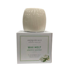 AROMAMATIC Wax Melt Electric Warmer White Textured (Essential Oils and Wax Melts)