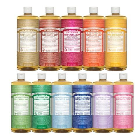 DR BRONNERS Hemp 18 in 1 Pure Liquid Castile Soap 946ml - Welcome Organics