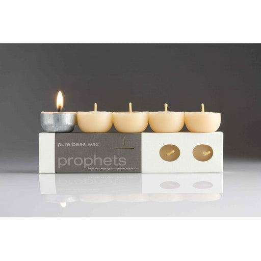 Organic Beeswax Tea Light Candles 5 Pack with Reusable Tin-northern light-Welcome-organics