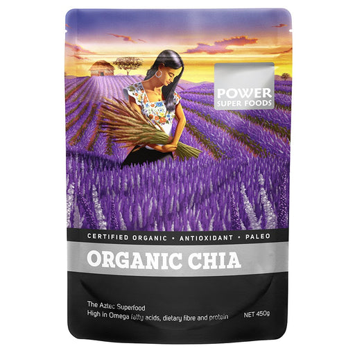 POWER SUPER FOODS Organic Chia Seeds 450g - Welcome Organics