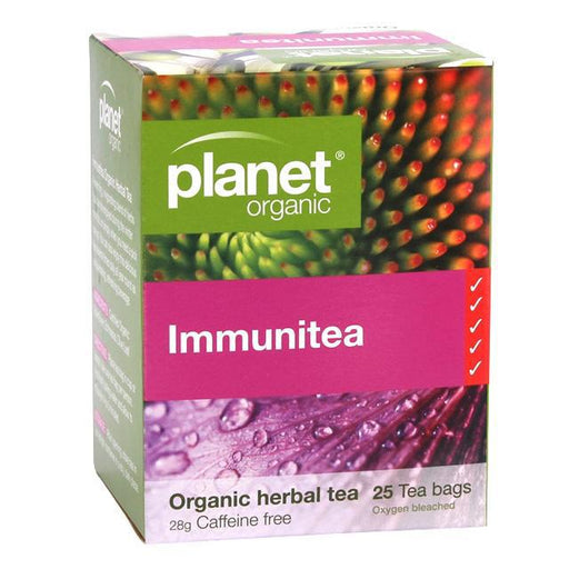 PLANET ORGANIC Immunitea Herbal Tea x 25 Tea Bags - Welcome Organics