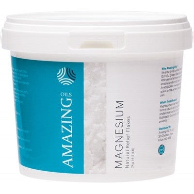 AMAZING OILS Magnesium Chloride Bath Flakes 2kg-AMAZING OILS-Welcome-organics
