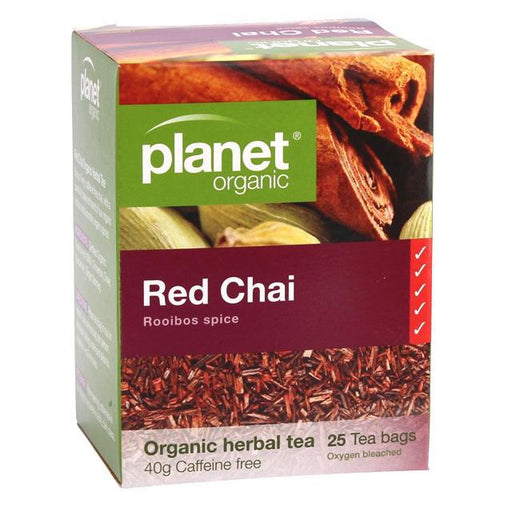 PLANET ORGANIC Red Chai Herbal Tea x 25 Tea Bags - Welcome Organics