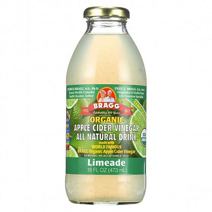 BRAGG Apple Cider Vinegar Drink ACV with Limeade 473ml - Welcome Organics