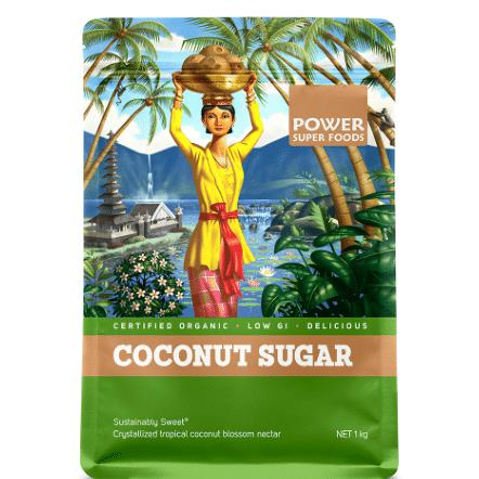 POWER SUPER FOODS Coconut Sugar 1kg - Welcome Organics
