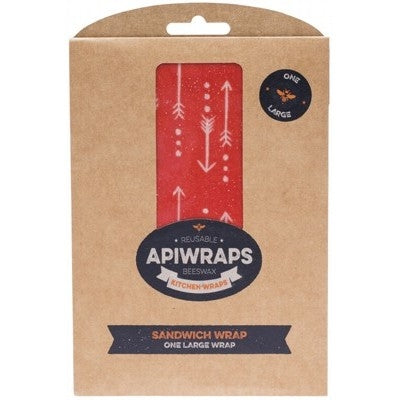 APIWRAPS Reusable Beeswax Wraps - Sandwich 1 x Large 1 - Welcome Organics