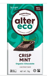 ALTER ECO Chocolate (Organic) Crisp Mint 75g