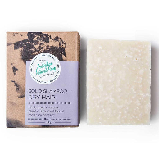 THE AUST. NATURAL SOAP CO Solid Shampoo Bar Dry Hair 100g