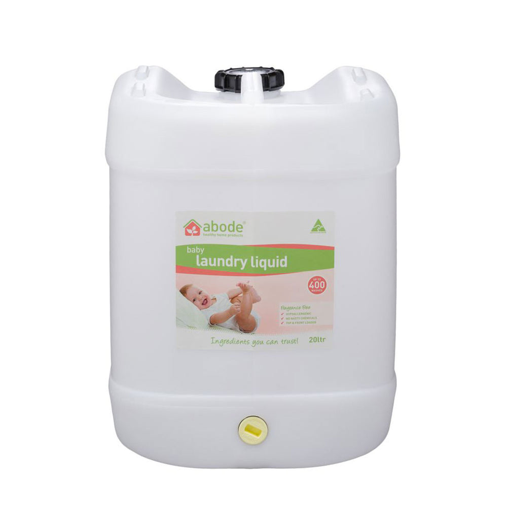 ABODE Laundry Liquid Bulk (Front & Top Loader) 20L Drum with Tap - Welcome Organics