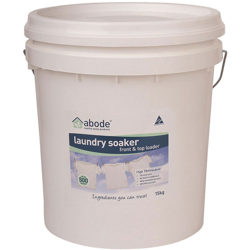 ABODE Laundry Soaker Bulk (Front & Top Loader) 15kg Bucket - Welcome Organics