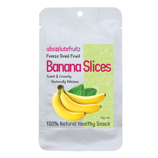 ABSOLUTEFRUITZ Freeze-Dried Banana Slices 18g