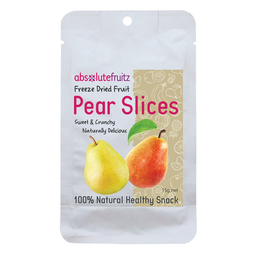 ABSOLUTEFRUITZ Freeze-Dried Pear Slices 15g