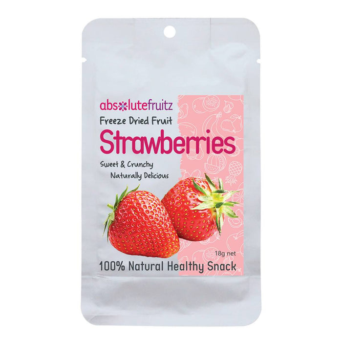 ABSOLUTEFRUITZ Freeze-Dried Whole Strawberries 18g