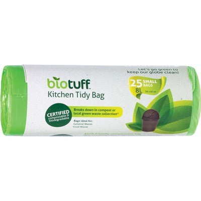BIOTUFF Compostable Kitchen Tidy Bin Bags 25 - Welcome Organics